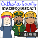 Catholic Saints Research Brochure Projects, SET OF 86
