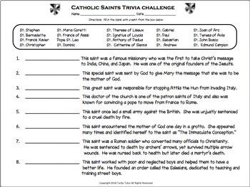 Catholic Saints Trivia Challenge