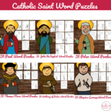 Catholic Saints Word Puzzles - No Prep Catholic Activities for June