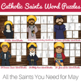 Catholic Saints Word Puzzles - No Prep Catholic Activity Bundle
