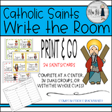 Catholic Saints Write the Room Language Arts Activity {FUN for All Saints Day!}