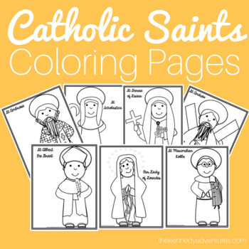 Catholic Saints and Images of Our Lady Coloring Pages
