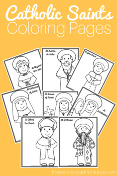 All Saints Day Activities - Catholic Saints Coloring Pages ...