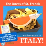 Italy! Catholic Saints - No Prep Writing & Easy St. Francis of Assisi Craft