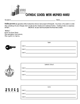 Catholic School Week- Great Bulletin Board and Writing Activity