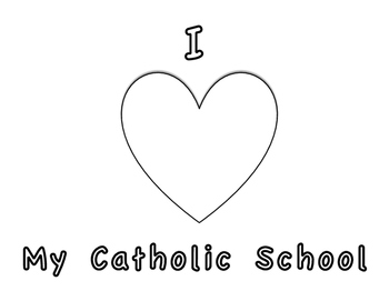 Catholic Schools Week Coloring Page By The Catholic Teacher Tpt