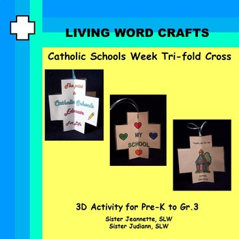 Catholic Schools Week 3D Tri-Fold Cross