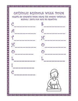 Catholic Schools Week Acrostic Poem