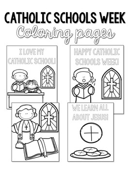 schools coloring pages Catholic Schools Week Coloring Pages by Countless Smart Cookies | TpT schools coloring pages
