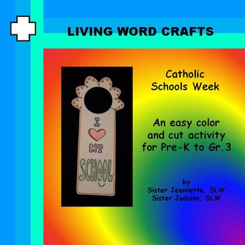 Catholic Schools Week Doorhanger for Pre-K to Gr.3
