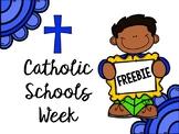 Catholic Schools Week Freebie