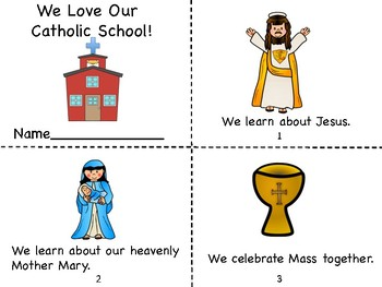 Catholic Schools Week Mini Book Coloring Page Certificate Tpt