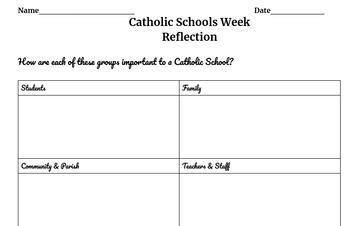 Catholic Schools Week Reflection on School Community