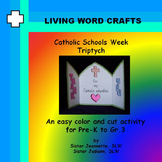 Catholic Schools Week Triptych 3D Craft for Pre-K to Gr.3