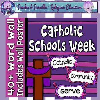 Catholic Schools Week Word Wall