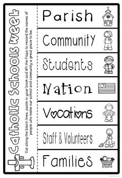 Catholic Schools Week Worksheets and Activities