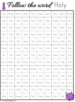 Catholic Sight Word Mazes