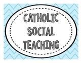 Catholic Social Teaching Posters