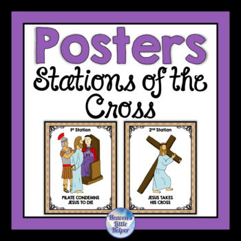 Catholic Stations of the Cross Posters for Lent