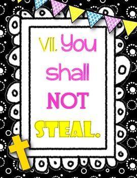 Catholic Ten Commandment Posters