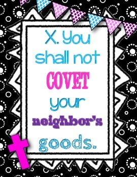 Catholic Ten Commandment Posters
