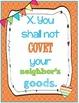 Catholic Ten Commandment Posters {Brights}