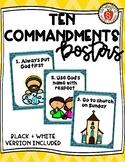 Catholic Ten Commandment Posters & Color Pages (For Kids)