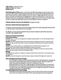 Catholic Virtues Complete lesson Plan with rubric