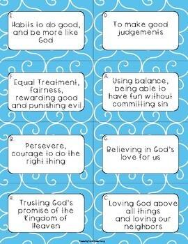 Catholic Virtues Sort