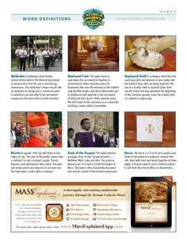Catholic Vocabulary Word Definitions with Pictures