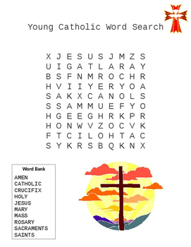Catholic Word Search for Young Kids