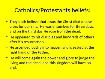 Catholics/Protestants- Similarities, Differences, Main Beliefs, History, Wars