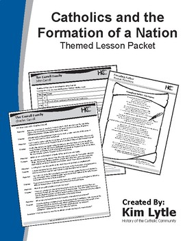 Catholics & Formation of a Nation Themed Lesson Packet - 5 Lessons