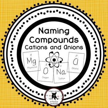 Cations and Anions- Naming Chemical Compounds