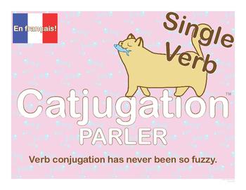 French Catjugation: Single Verb PARLER Conjugation