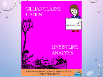 Catrin by Gillian Clarke: an analysis