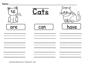 Cats, Writing Prompts, Graphic Organizers, Diagram