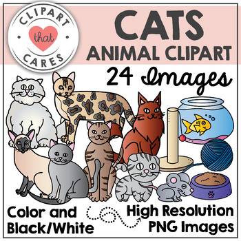 Cats Animal Clipart by Clipart That Cares