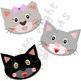 Cats Clip Art / Cat Faces Graphics / Kitten Clipart
