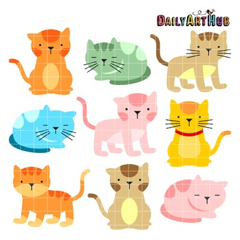 Cats Clip Art - Great for Art Class Projects!