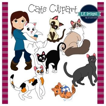 Cats Clipart {L.E. Designs}