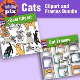 Cats Clipart and Frames Bundle