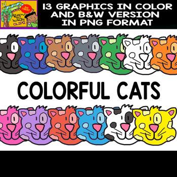 Cats - Cliparts Set - 13 Items