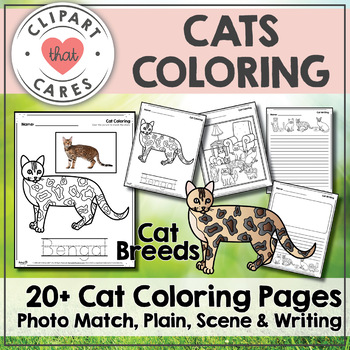 Cats Coloring By Clipart That Cares