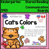 Cat's Colors Communication Boards and Activities