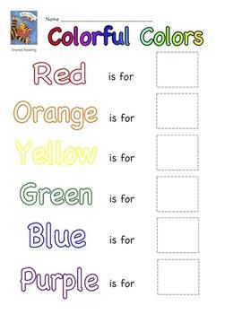 Cat's Colors Literacy Activity