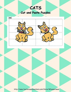 Cats. Cut and Paste Puzzles