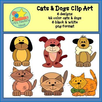 Cats and Dogs Clip Art