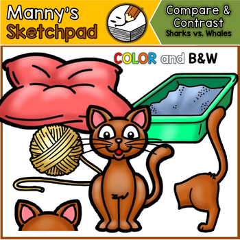 Cats & Dogs: Compare and Contrast Clip art