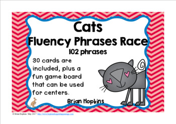 Cats Sight Words Fluency Phrases Race